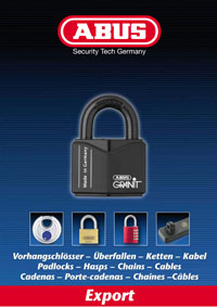 ABUS Padlocks, Hasps, Chains, Cables